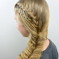 Feather Braided Fishtail Combo