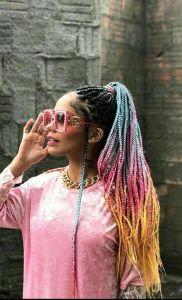 Rainbow Drip Box Braid