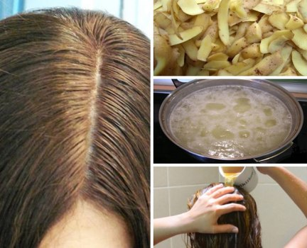 potato juice on hair