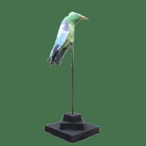 Harry papiermache vogel blauw groen