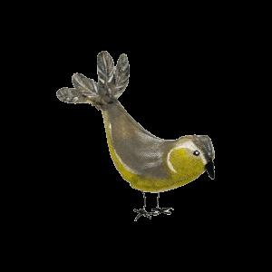 van textiel handgemaakte vogel koolmees