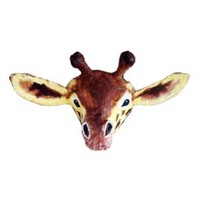 papiermache giraf voor aan de muur