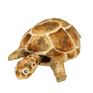 schildpad van papiermache gemaakt door babetteswereld