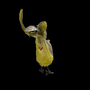 vogelkontje van een textiele vogel