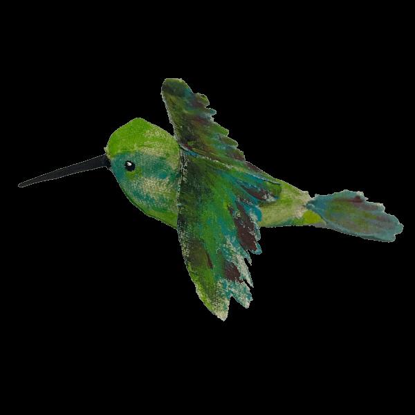 vogel van textiel kolibri