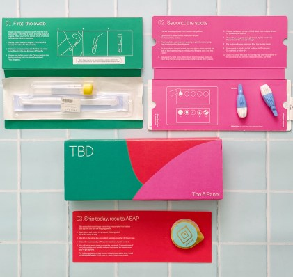 """TBD Health's """"The 5 Panel"""" kit includes a Lovability condom, an important reminder that condoms are the best way for sexually active people to prevent STIs :)"""