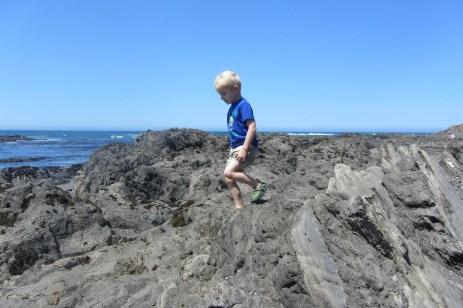 Damien on the rocks, as usual - PC Dan