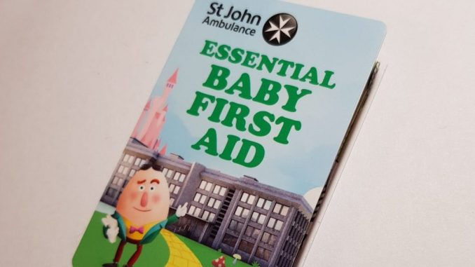 Baby first aid guide image