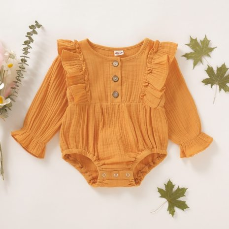0 18M Baby Girl Romper Spring Newborn Baby Clothes For Girls Long Sleeve Kids Boys Jumpsuit 3