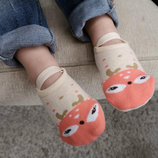 1 Pair Fashion Baby Girls Boys Cute Cartoon Non slip Cotton Toddler Floor Socks Animal pattern 1