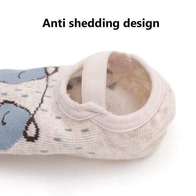 1 Pair Fashion Baby Girls Boys Cute Cartoon Non slip Cotton Toddler Floor Socks Animal pattern 3