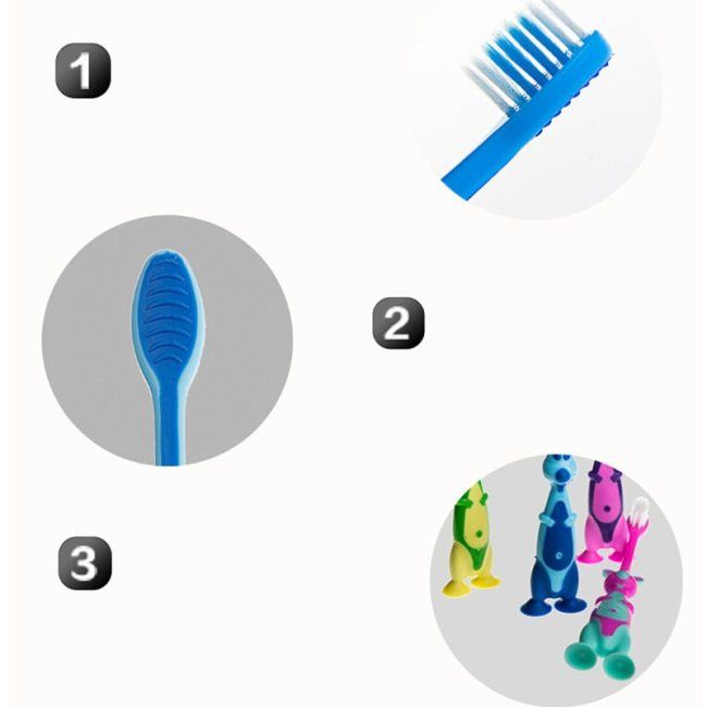 1Pcs Baby Boy Soft bristled Toothbrush animal Tooth Cleaner Baby Kids Training Dental Care Child Teeth 4