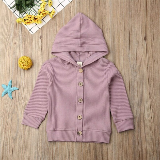 2020 Fashion Baby kids Clothes Sweatshirts For Boys Girls Hoodies Children Cotton Knitted Long Sleeve Hooded 4