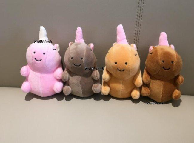4Colors Small 12CM Approx Stuffed animal horse plush toys kid s little key chain plush dolls