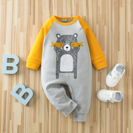 Autumn Kintted baby clothes full sleeve cotton infantis baby clothing romper cartoon costume ropa bebe newborn 4