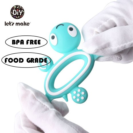 BPA Free Silicone Teethers Food Grade Tiny Rod DIY Teething Necklace Baby Shower Gifts Cartoon Animals 2