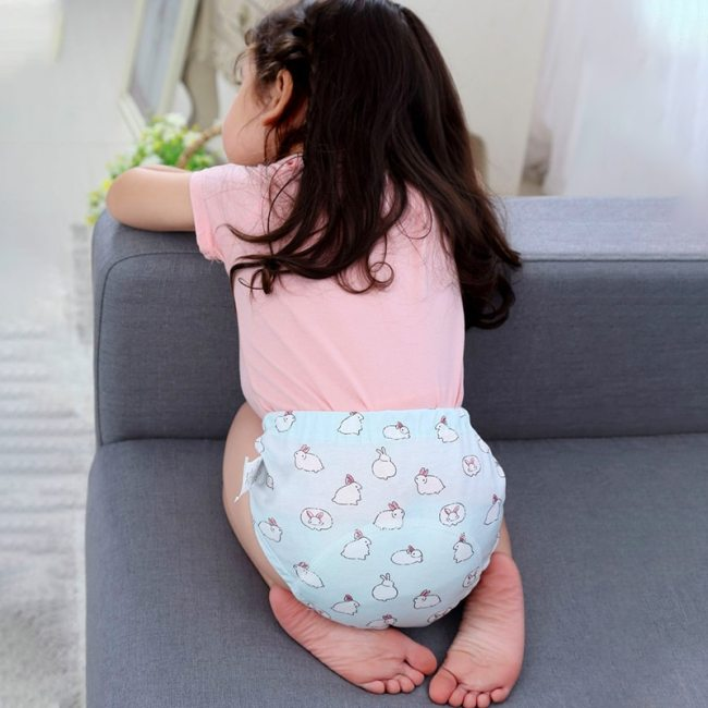 Baby Cotton Training Pants Panties Baby Diapers Reusable Cloth Diaper Nappies Washable Infants Children Underwear Nappy 5