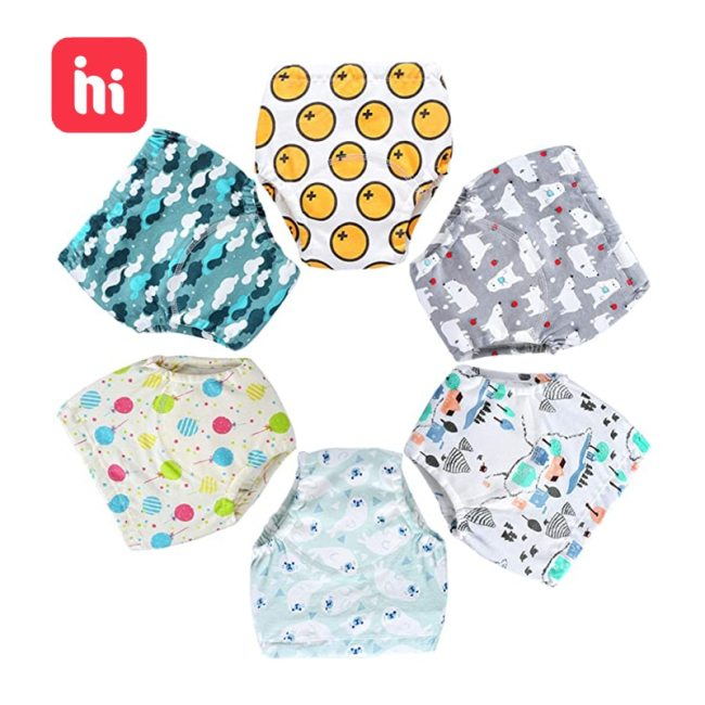 Baby Cotton Training Pants Panties Baby Diapers Reusable Cloth Diaper Nappies Washable Infants Children Underwear Nappy