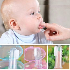 Baby Finger Toothbrush Silicon Toothbrush Box Children Teeth Clear Soft Silicone Infant Tooth Brush Rubber Cleaning