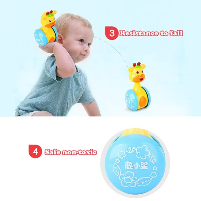 Baby Rattles Tumbler Doll Baby Toys Sweet Bell Music Roly poly Learning Education Toys Gifts Baby 1