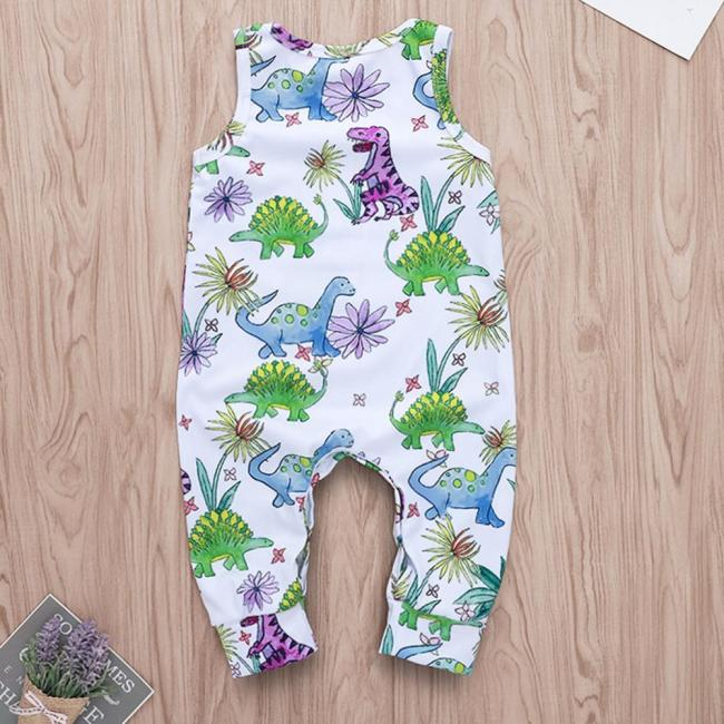 Cartoon Dinosaur Romper Toddler Baby Boys Jumpsuit Clothes Playsuit Outfits roupas menino Onesies baby clothing kinder 3