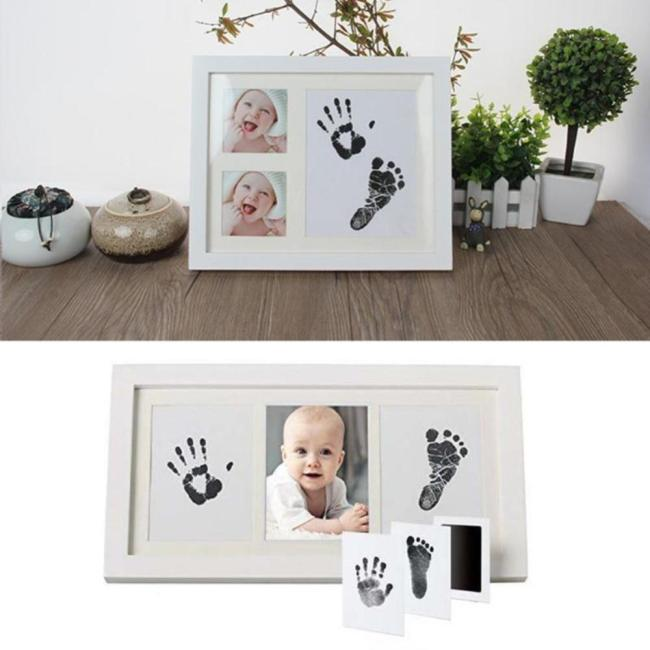 Cute Safe Non toxic Baby Inkless Handprint Footprint Kit Hand and Foot Prints for 0 6