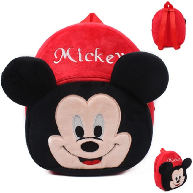 Disney Cute Cartoon Plush Toys Mickey Mouse Minnie Winnie the Pooh The Avengers Figures Backpack Kids 3