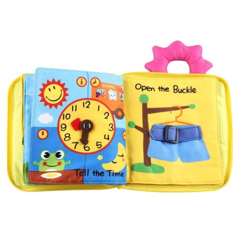 Educational Baby Rattles Mobiles Toys Infant Kids Early Development Cloth Books Cartoon Animal Learning Unfolding Animal 4