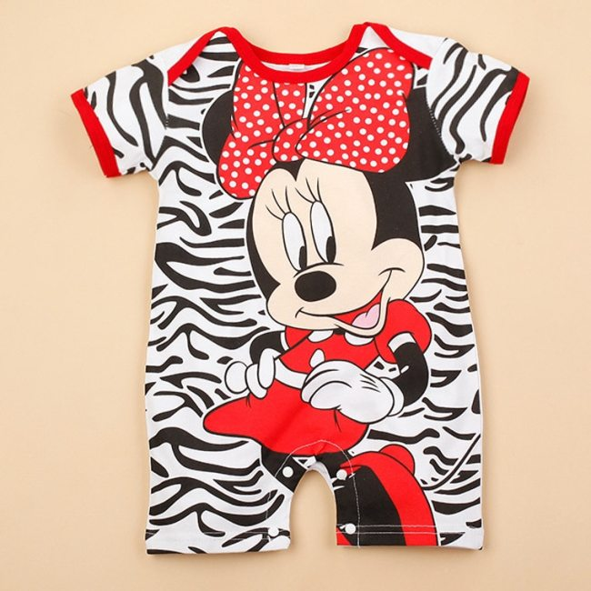 Mickey Baby Rompers Disney Baby Boy Clothes Minnie Baby Girls Clothing Roupas Bebe New Born Infrant 3