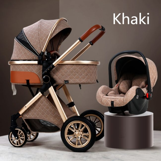 Multi functional 2 in 1 Baby Stroller High landscape Can Sit Reclining Light Folding Two way 1