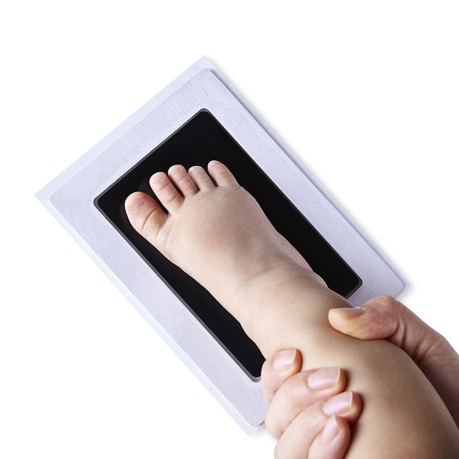 Newborn Baby Handprint Footprint Inkless Non Toxic Touch Ink Pad DIY Photo Frame Girl Boy Infant 2