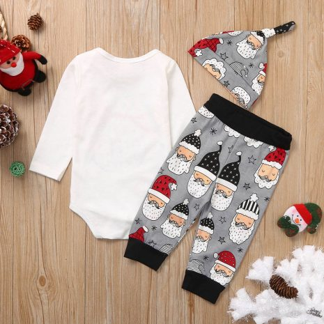 Newborn Infant Baby Girls Boys Christmas Santa Cartoon Romper Pants Outfits my first thanksgiving outfit ubranka 1