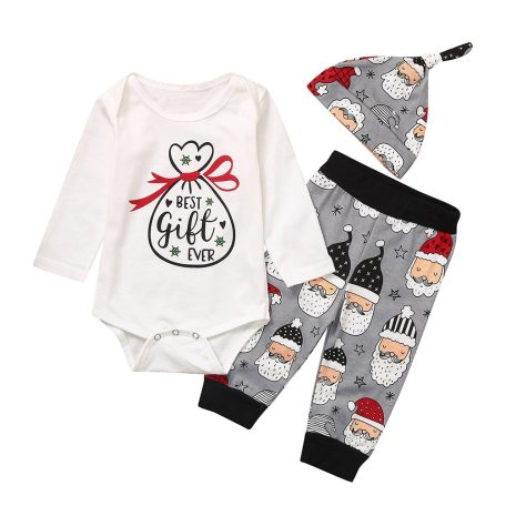 Newborn Infant Baby Girls Boys Christmas Santa Cartoon Romper Pants Outfits my first thanksgiving outfit ubranka 2