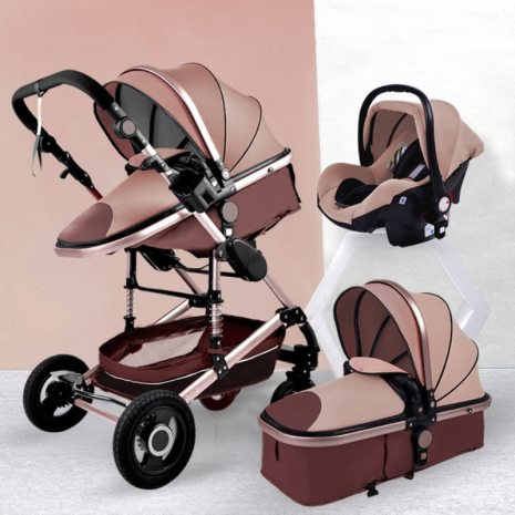 YAZOCO Stroller 3 in 1 Baby Stroller Multifunctional High Landscape Portable Aluminum Frame CE CPC Safety 1