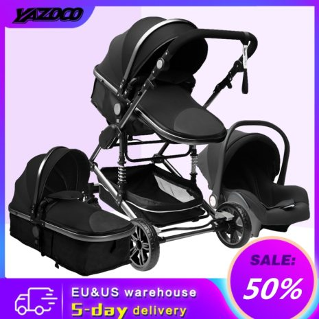 YAZOCO Stroller 3 in 1 Baby Stroller Multifunctional High Landscape Portable Aluminum Frame CE CPC Safety