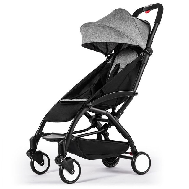 Yoyaplus Baby Stroller Portable Travel Baby Carriage Folding Pram Aluminum Frame High Landscape Stroller for Newborn 4