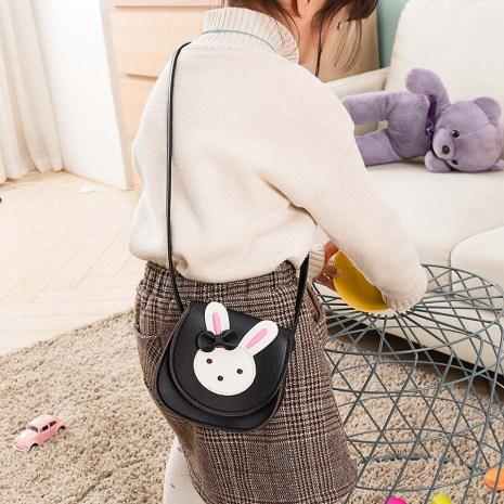 2019 Girl Coin Purse Handbag Children Wallet Small Coin Box Bag Cute Rabbit Kid Money Bag 1