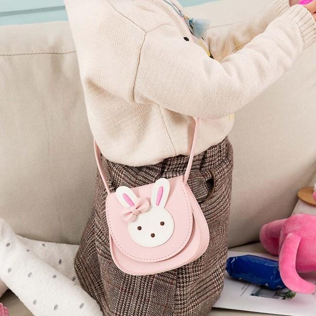 2019 Girl Coin Purse Handbag Children Wallet Small Coin Box Bag Cute Rabbit Kid Money Bag 2