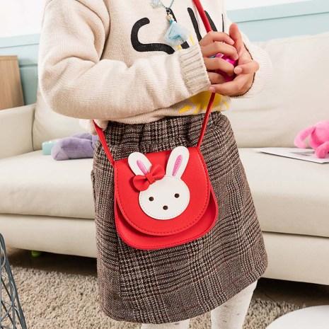 2019 Girl Coin Purse Handbag Children Wallet Small Coin Box Bag Cute Rabbit Kid Money Bag 4