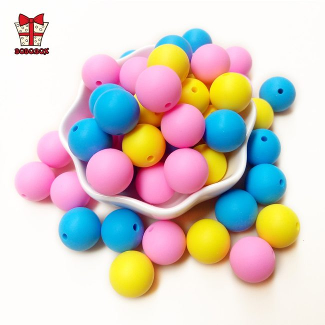 BOBO BOX 50Pcs Round Silicone Beads 9mm Perle Silicone Teething Beads For Jewelry Making Baby Products 1