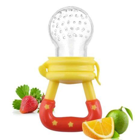 Baby Girl Teether Nipple Fruit Food Feeding Pacifier Silicone Teethers Safety Feeder Bite Food Nipple Teether