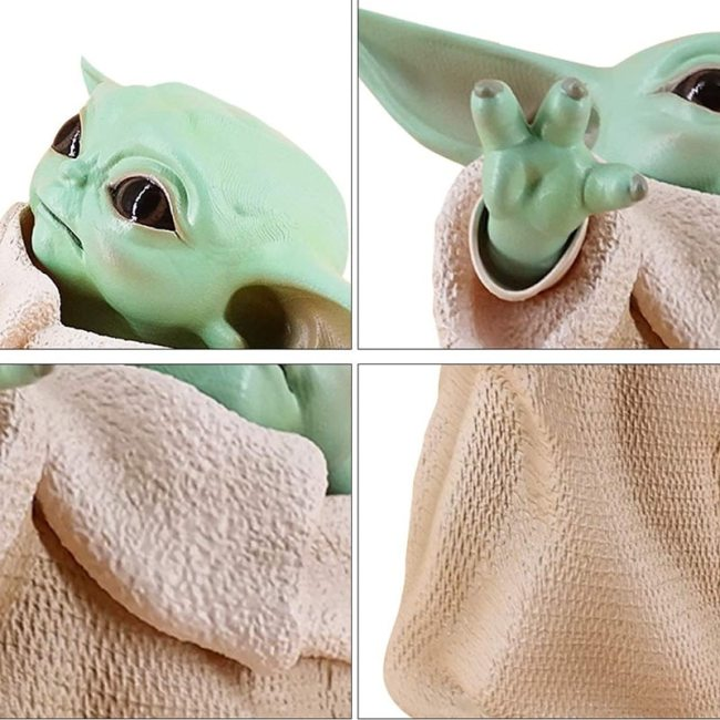 8cm Star Wars Baby Yoda Collection Action Figure Toy PVC Miniature Toys Doll Gift for Children 2