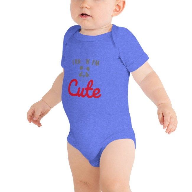 baby short sleeve one piece heather columbia blue 5fef72aa4b4f9
