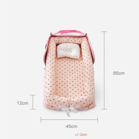Portable Baby Nest Bed for Boys Girls Travel Bed Infant Cotton Cradle Crib Baby Bassinet Newborn 4