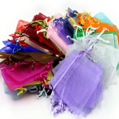 100pcs lot Organza Gift Bag Jewelry Packaging Bag Wedding Party Decoration Favors Drawable Gift Bag Pouches