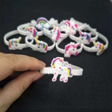 10pcs Unicorn Party Decoration Rubber Bangle Bracelet Unicorn Birthday Party Decorations Kids Gifts Baby Shower Unicornio 1