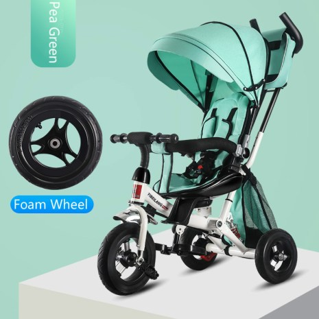 4 In 1 Infant Tricycle Folding Rotating Seat Baby Stroller 3 Wheel Bicycle Kids Bikes Three 5