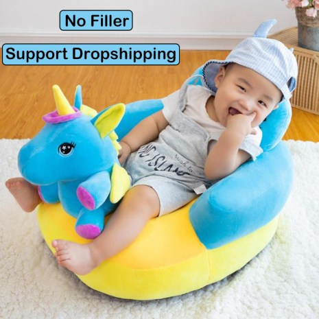 Baby Seats Sofa Support Cover Infant Learning to Sit Plush Chair Feeding Seat Skin for Toddler