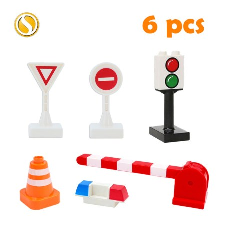 Railway Transport Assemble Big Building Blocks Track Set Compatible Toy Bricks Train Home Interactive Toys For 2