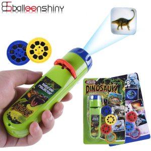 Balleenshiny Parent child Interaction Puzzle Early Education Luminous Toy Animal Dinosaur Child Slide Projector Lamp Kids
